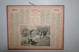 Almanach   - 1899 - Cyclistes Et Taureau - Formato Grande : ...-1900