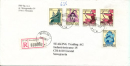 Poland Registered Cover Sent To Switzerland 23-1-1998 - 1944-.... Republic