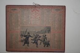 Almanach   - 1900 - La Neige Au Luxembourg - Calendari