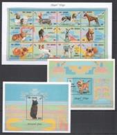 A190 GAMBIA FAUNA PETS ROYAL DOGS & ORIENTAL CATS !!! 1SH+2BL MNH - Honden