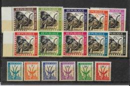 HAUTE VOLTA - ANIMAUX - SERVICE + TAXE COMPLETE YVERT N° 1/10 + T21/26 ** MNH - COTE = 19 EUR - Upper Volta (1958-1984)