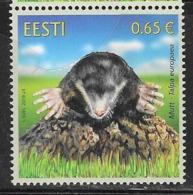 ESTONIA, 2019, MNH,  FAUNA, MOLES, 1v - Stamps