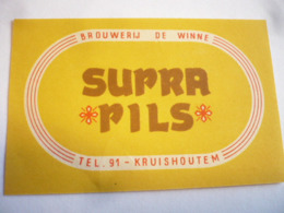 Belgische Bier Etiketten De Winne Kruishouten - Alcools