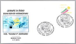 CUPON-RESPUESTA INTERN. - Int. Reply-coupon - Coupon-reponse Int - Mod. Pechino II Centenario. Borgo Faiti, Latina, 2016 - Correo Postal