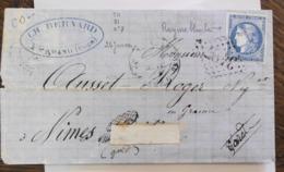 02/10/19-LAC De St Amand-mont-rond Avec Superbe N°45? Type I Nuance Et Variété Du 26/01/71 - 1849-1876: Classic Period