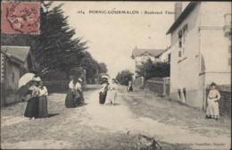 CPA Pornic Gourmalon Boulevard Thiers Phototypie Vassellier Nantes Voyagée 1906 44 Loire Atlantique - Pornic