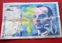 1999 Monnaie Billets De Banque Bank Billet 1992-2000 Dernière Gamme  50 F 1992-1999 ''St Exupéry'' - 1992-2000 Ultima Gama
