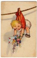 BAMBINI - BAMBINO - BAMBINA - Vedi Retro - Formato Piccolo - Cartoline Umoristiche