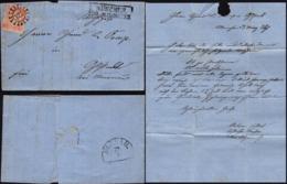 Germany - Bavaria / BAYERN, Falt Brief (Mi. 15 EF) Mit Offener Mühlradstempel 325, München 25.3.1867 - Murnau. - Bayern