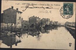 CPA 2146 Givors Rhône Canal Et Rue Des Tuileries Voyagée 1911 - Givors