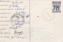 Polaire Australien, CP Obl. Sydney Le 17 MR 65 Sur N°6 Et Ker Le 18/1/65 + Exp. Patanela Avec Liste Et Sign. De L'équipe - Territoire Antarctique Australien (AAT)