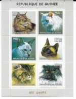 GUINEE - 2002 - SERIE COMPLETE ** MNH - FELINS / CHATS - Guinea (1958-...)