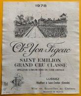 11698 - Château Yon-Figeac 1978 Saint-Emilion - Bordeaux