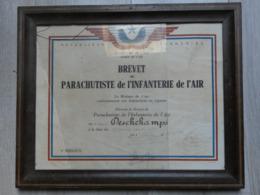 DIPLOME BREVET PARA N°2843 DE 1945. PARACHUTISTE INFANTERIE DE L'AIR. - Documents