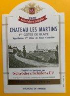 11703 - Château Les Martins 1981 - Bordeaux