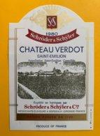 11704 - Château Verdot 1980 - Bordeaux