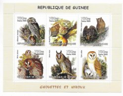 GUINEE - 2002 - SERIE COMPLETE ** MNH - CHOUETTES ET HIBOUX - Guinea (1958-...)