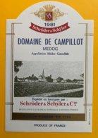 11705 - Domaine De Campillot 1981 Médoc - Bordeaux