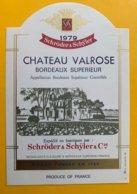 11706 -Château Valrose 1979 - Bordeaux