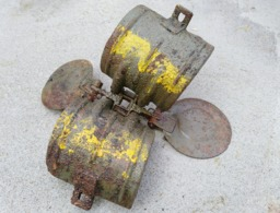 RAREEEE ALLEMANDE German Mine SD-2 Sprengbombe Dickwandig .. OBUS Projektil - Armes Neutralisées