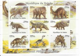 GUINEE - 1998 - SERIE COMPLETE ** MNH - ANIMAUX PREHISTORIQUES - Guinea (1958-...)