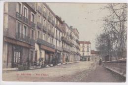 34 BEZIERS Rue D'Alsace ,façade Café Du Commerce Avec Terrasse - Beziers
