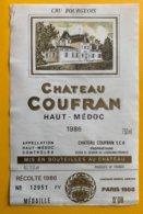 11714 - Château Coufran 1986 Haut-Médoc - Bordeaux