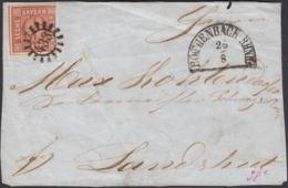 Germany - Bavaria / BAYERN Briefstück! (Mi. 4 II) Mit Geschlossener Mühlradstempel 433, Röthenbach RHNH. 1860's. - Bavaria