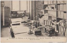 75 Paris 15è Patronage De L'enfance Et De L'adolescence Rue Vaugirard Bureau Du Courrier Téléphone Et Machine à écrire - Arrondissement: 15