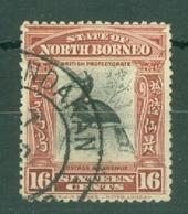 North Borneo: 1909/23   Hornbill   SG174   16c   [Perf: 13½-14]   Used - Noord Borneo (...-1963)