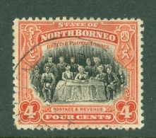 North Borneo: 1925/28   Sultan & Staff   SG280   4c     Used - Borneo Septentrional (...-1963)