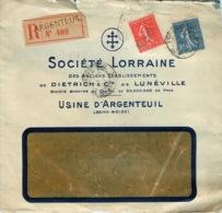 LETTRE SOCIETE LORRAINE De DIETRICH & Cie  USINE D'ARGENTEUIL En AR - 1921-1960: Moderne