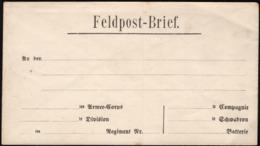 Germany - FELDPOST - BRIEF, Blancko Briefumschlag (1870's), Soldiers Field Post Letter. - Briefe U. Dokumente