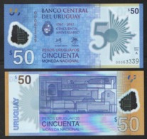 URUGUAY  50  2017 POLIMER UNC - Uruguay