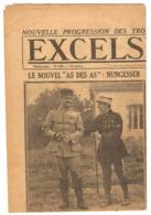JOURNAL L'EXCELSIOR 27 SEPTEMBRE 1917 NUNGESSER AS Des AS - RAID TURIN LONDRES - ESSAD PACHA - INVALIDES - Dr CHASSAING - Journaux - Quotidiens