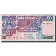 Billet, Uganda, 20 Shillings, 1987, 1987, KM:29a, NEUF - Oeganda