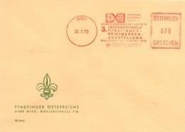 X86  Autriche - 3. Internationale Pfadfinder Briefmarkenausstellung - Salzburg -  22/3/1972   TTB   (scout) - Europäischer Gedanke