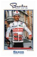 CARTE CYCLISME FILIP VAN LUCHEM SIGNEE TEAM SAXON 1993 - Cyclisme