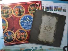 HAYDN. LOT DE DEUX 33 TOURS. ANNEES 60 / 80 3 CONCERTOS POUR CLAVECIN ET ORCHESTRE / LA CREATION. VEGA C 35 S 209 / EMI - Klassiekers