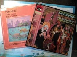 HAENDEL. LOT D UN COFRET DE TROIS 33 TOURS ET D UN 33 TOURS. 1967 / ANNEES 70 FONTANA 700 042 WGY / EMI 2 C 167 00635/7 - Klassik