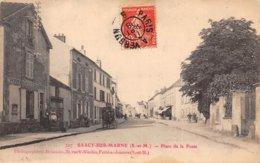 77. N° 104825 .saacy Sur Marne .postes Telegraphes .place De La Poste . - Autres Communes
