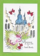 CPM Illustrateur Jean Luc Perrigault.Saint Avold 57.Marianne Juin 1990. - Illustrators & Photographers