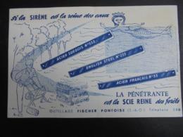 BUVARD - PONTOISE - LA PENETRANTE EST LA SCIE REINE - BUVARD PLIE EN DEUX EN SON MILIEU - Papel Secante