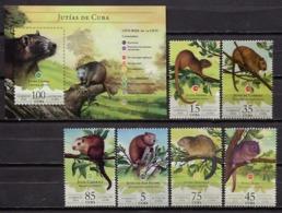 Cuba 2016 / Fauna Mammals Rodents MNH Mamiferos Jutias Säugetiere / C11929  29-34 - Rongeurs