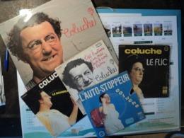 COLUCHE. LOT D UN 33 TOURS ET DE QUATRE 45 TOURS. 1974 / 1976 LE SCHMILBLICK / QUAND JE SERAI GRAND J VEUX ETRE CON / C - Autres - Musique Française