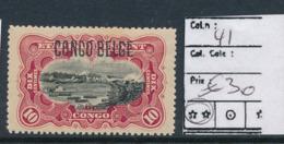 BELGIAN CONGO 1909 ISSUE TYPO. OVERPRINT COB 41 MNH - Belgian Congo