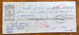 CAMBIALE   AMG FTT  LIRE NOVE  TRIESTE   IN FILIGRANA CMF ANNO 1953   FIRME AUTOGRAFE - 7. Triest
