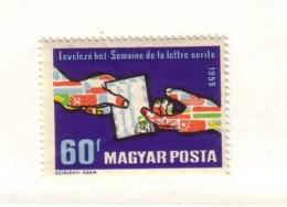 HONGRIE 1959 SEMAINE DE LA LETTRE  Yvert: 1316 NEUF MNH** - Nuovi