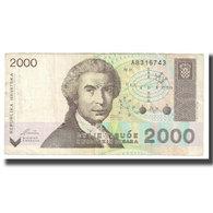 Billet, Croatie, 2000 Dinara, 1992, 1992-01-15, KM:23a, TTB - Kroatië