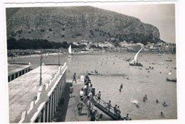 B3359 - Palermo, Mondello, Mare E Veduta Del Paese, Bozza Fotografica Anni 50 - 60 Non Conosciuta Come Cartolina Edita. - Palermo
